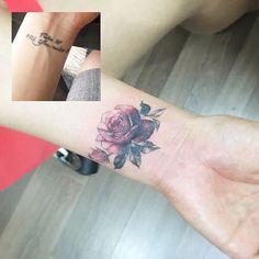 #tattoo#tattoos#tattooed#tattooing#tattoowork#tattooart#art#artist#flowertattoo#rosetattoo#coveruptattoo#colortattoo#타투#장미타투#꽃타투#컬러타투#커버업#타투이스트꽃 #tattooistflower cover up rose