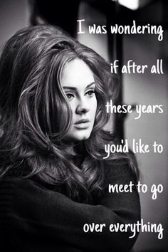 Hello - Adele lyrics
