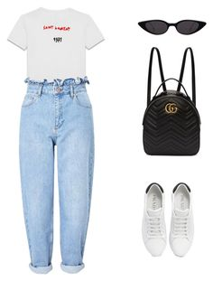 """""""Travel Light"""" by pinkygalinato ❤ liked on Polyvore featuring Yves Saint Laurent, Miss Selfridge, Prada and Gucci"""