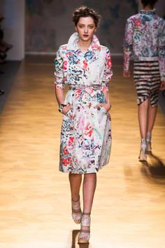 Floral Trench at Nicole Miller Spring 2014