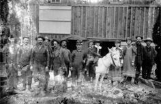 """""""Miners and children pose with a mule near a mine building in Ouray County, Colorado. Date [between 1880 and 1900]"""" Courtesy: Western History/Genealogy Department, Denver Public Library, Denver, Colorado (USA)."""