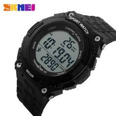 Special offer SKMEI Pedometer Digital Watch Men Sport Watches Running Mens Waterproof Military Wristwatch Army Green Fashion Brand 1112 just only $12.99 with free shipping worldwide  #menwatches Plese click on picture to see our special price for you