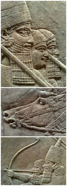 The Royal Lion Hunt. Assyrian Reliefs. About 645-635 BC. From Nineveh, North Palace.   Mehrdad Aref-Adib on Flickr