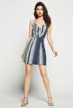 BCBGeneration Faux-Wrap Surplice Dress