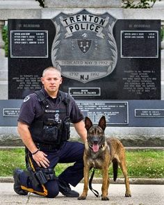 """POLICE OFFICER STARTS NON-PROFIT FOR K-9 VESTS - """"It's worth it to support dogs like Matou, a Belgian Malinois that Lucchesi says is totally loyal…""""I know that dog would give his life to save me…""""  Officer Michael Lucchesi of the Trenton Police Department recently started the Capital K-9 Association, a non-profit organization dedicated to providing protective body armor and safety equipment to police dogs. His partner is a Belgian Malinois named Matou."""
