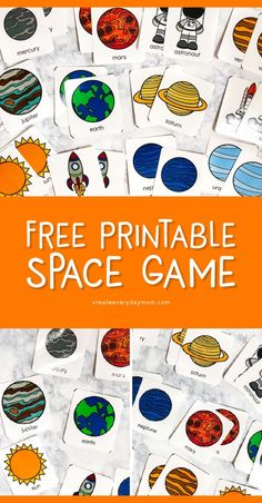 Teach The Solar System For Kids With This Fun Flashcard Game Free Printable Space Memory Game For Preschool & Kindergarten Space Activities For Kids, Space Theme Preschool, Themes For Preschool, Outer Space Crafts For Kids, Preschool Games, Solar System For Kids, Solar System Planets, Solar Kids, Solar System Activities