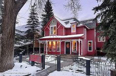 Aspen's Little Red Ski Haus Listed with Not So Little Price   www.sunputty.com  www.sunputty.com/sunputty_online_store/index.php