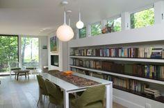 Shelves along one side?