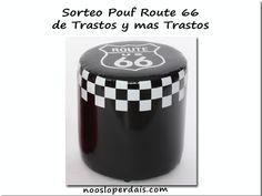 Sorteo pouf ruta 66 de Trastos y más trastos | noosloperdais
