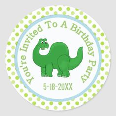You're Invited To A Birthday Party: Dino Stickers Dinosaur Birthday Invitations, Dinosaur Birthday Party, Birthday Party Games, Birthday Board, Boy Birthday, Kids Stickers, Custom Stickers, Christmas Card Holders, Christmas Cards