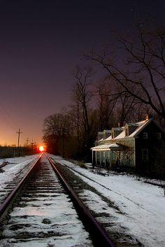 Railroad in winter