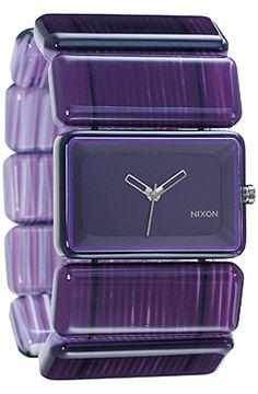 Nixon The Vega Watch in Purple Marble : Karmaloop