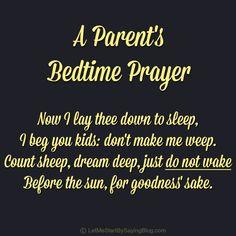 Funny Bedtime Prayers | Bedtime Prayer for Parents