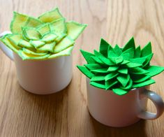 Tutorial and Templates to make your own felt succulents