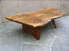 Free Edge Coffee Table By George Nakashima | From a unique collection of antique and modern coffee and cocktail tables at http://www.1stdibs.com/furniture/tables/coffee-tables-cocktail-tables/