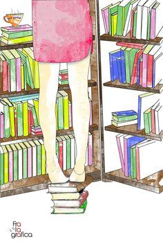 climb and choose. Readind. #fralagrafica illustration