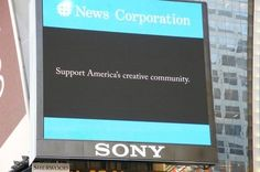 Hollywood fights Internet protests with... TV ad, billboard, radio spot