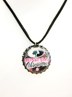 Mossy Oak Obsession Camo Bottlecap Suede Leather Necklace. $7.00, via Etsy.