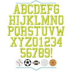 abbab03c3ef11e All Star Embroidery Font - Planet Applique Inc