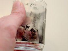 How to transfer photos onto glass