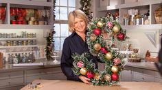Watch Martha Stewart's Ask Martha: Festive Monogram Wreath Video. Get more step-by-step instructions and how to's from Martha Stewart.