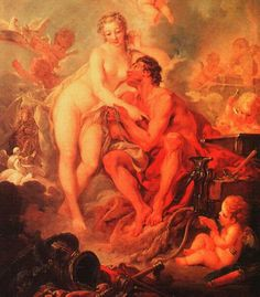Learn more about The Visit of Venus to Vulcan (detail) François Boucher - oil artwork, painted by one of the most celebrated masters in the history of art. Roman Mythology, Greek Mythology, French Rococo, Greek Gods And Goddesses, Historical Images, Silk Painting, Rococo Painting, Old Master, Aphrodite