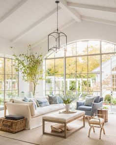 Bright and light farmhouse living room