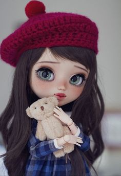 Welcome to Poison Girl's Dolls! Pullip & Blythe custom dolls for sale in my shop.Blythe dolls are cute 😍 on We Heart It Ooak Dolls, Blythe Dolls, Barbie Dolls, Doll Toys, Girl Dolls, Cute Girl Wallpaper, Kawaii Wallpaper, Wallpaper Wallpapers, Pretty Dolls
