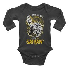 Super Saiyan Goku Dragon Fist Infant long sleeve one-piece Shirt - PF00036BL