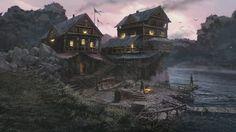 Riverside Warehouse, Andrii Shafetov on ArtStation at https://www.artstation.com/artwork/wPn5Y