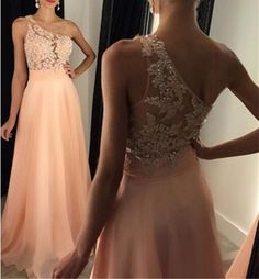 Long Prom Dress,One Shoulder Prom Dress,Sleeveless Prom Dress,Lace Prom Dress,Chiffon Prom Dress With Peach Prom Dresses, Prom Dresses 2016, A Line Prom Dresses, Tulle Prom Dress, Prom Party Dresses, Party Gowns, Dresses For Teens, Sexy Dresses, Bridesmaid Dresses