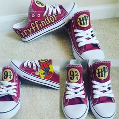 949225ca4a60 Custom Harry Potter Inspired Gryffindor hand painted shoes.