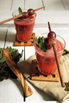 Kiwi, Strawberry and Grape Juice