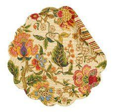 "Set of 4 PCS Quilted,17"" Round Placemats, Vivienne by C&F. $39.59"