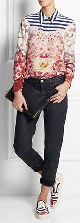 MOTHER OF PEARL Jim Lambie-Printed Canvas Slip-on Sneakers Sneakers? Great shirt!