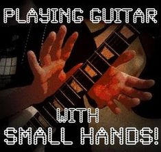 Improve your guitar practice routine with these eight tips on playing guitar with small hands. Includes alternative guitar technique ideas and original video examples. Play Guitar Chords, Acoustic Guitar Lessons, Guitar Scales, Violin Lessons, Learn To Play Guitar, Guitar Tips, Music Guitar, Playing Guitar, Learning Guitar