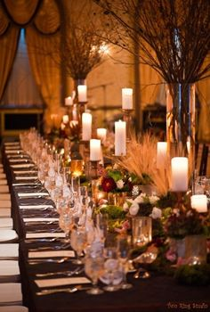 Beautiful rustic table setting