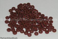50g Czech Vintage Sintered Saucer Beads 4mm by TheCzechGlassBeads