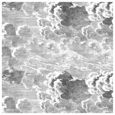 Papier peint panneau décoratif gris Nuvole - Cole and Son - Au fil des Couleurs