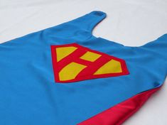 PERSONALIZED SUPERMAN CAPE - Super hero party doublesided cape-boy birthday gift - superman gift