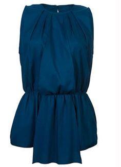 Blusa com Pregas Azul - Posthaus