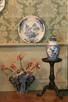 Cocky Wildschut  plate on the wall The lidded vase by Josje. Tulip vase made by Henny Staring