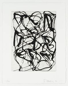 brice marden - looks like Picasso Black and White paintings