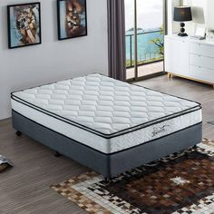 Natural Latex Mattress Tight Top Thickness Premium Knitted Fabric Medium Support Deluxe Elastic Foam All Sizes Available Latex Mattress, Queen Mattress, Queen Beds, Pillow Top Mattress, Bed Base, Natural Latex, Double Beds, Fabric Covered, King