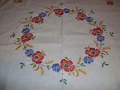 embroidery poppies in wheat - Google pretraživanje