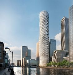 Residential Tower in Canary Wharf in London by Herzog & de Meuron