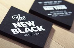 The New Black - Business Card Design Inspiration | Card Nerd