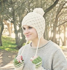 Looking for your next project? You're going to love Lattice Ear Flap Hat by designer Knits for Life.