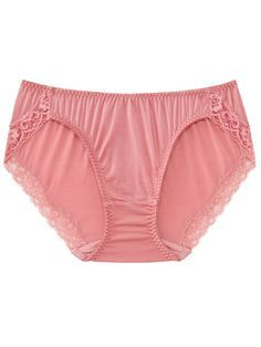 Light and Airy Ex Store Pink Floral Lace Boy Short Pantie Knickers-size 12