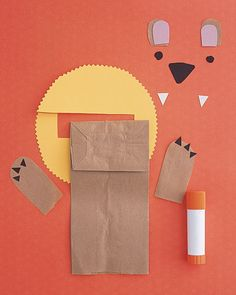 Paper bag puppets. Classic.